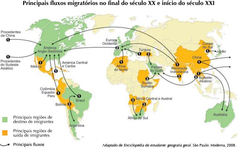 Resultado de imagem para migrações internacionais