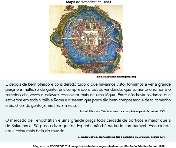 9d4b42279 O mapa de Tenochtitlán - capital do Império Asteca à época da conquista da  América no século XVI - auxilia a compreensão dos relatos dos espanhóis, ...